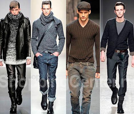 8e3dd42ff В качестве альтернативы можешь надеть несколько тонких джемперов –  многослойность актуальна, как никогда. Обязательно заправь свитер в брюки  только спереди ...