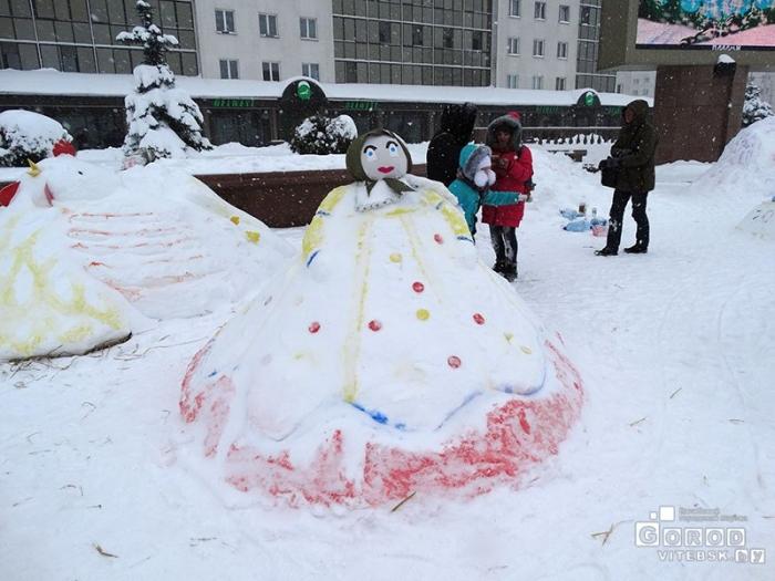 День Снега на Площади Победы