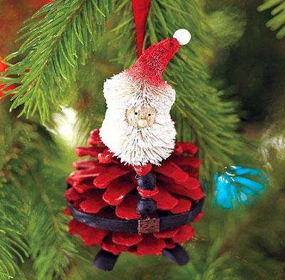 pinecone-santa-ornament-uni-wall-interior-design-picture
