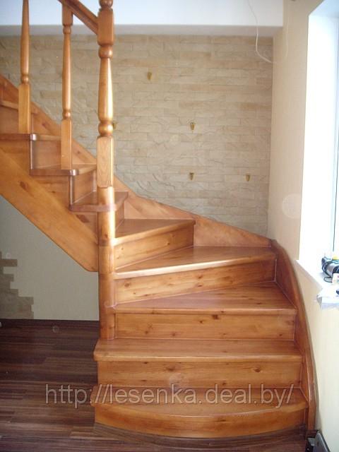 Деревянная лестница с поворотом 90 градусов своими руками