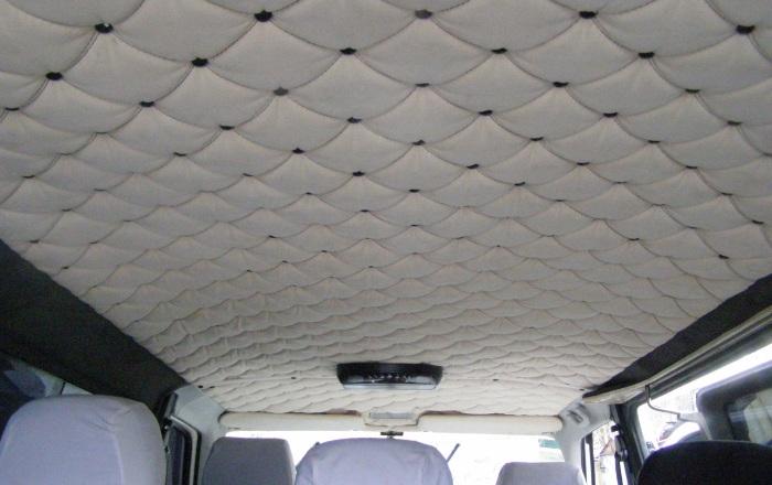 Перетяжка потолка в автомобиле своими руками