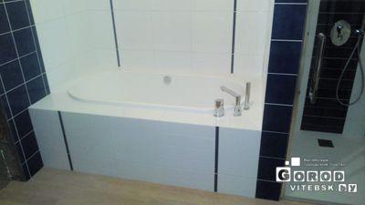мотаж ванны подключение сантехники. облицовка плиткой