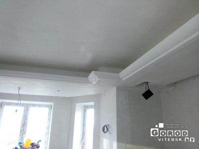 2.двухуровневый потолок гипсокартонн