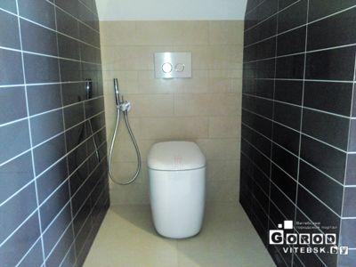 облицовка туалета питкой (гигиенический душ и унитаз)