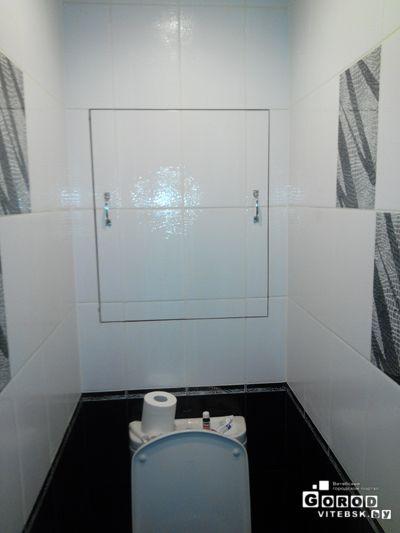 установка сантехнич люкой (закрытое положение)