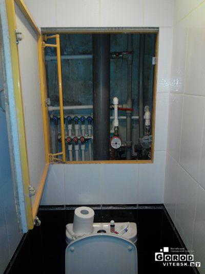 установка сантехнич люкой (открытое положение)
