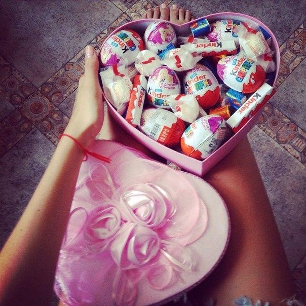 Подарок сладостей для подруги