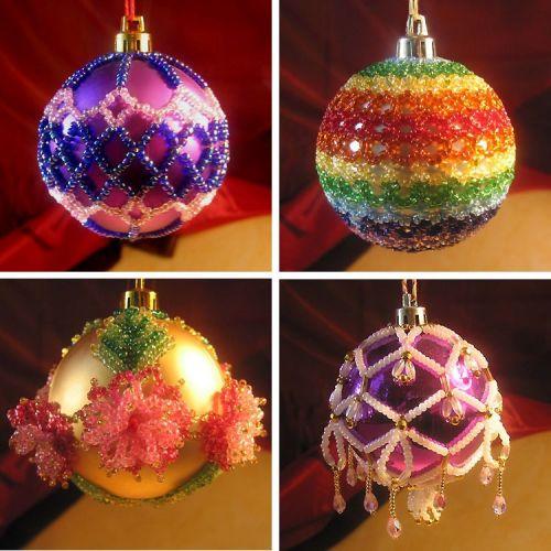 Как сделать ёлочную игрушку своими руками шарик
