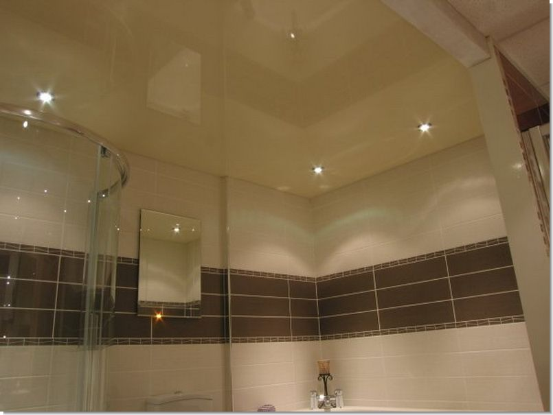 Натяжные потолки ванная фото