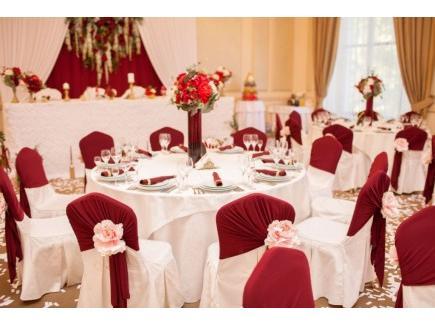 Украшение зала на свадьбу марсала