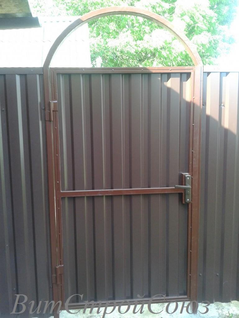 Купить ворота металлические из профнастила закхамские ворота