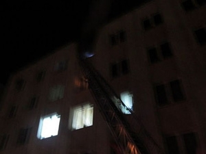 В Витебске произошел пожар в общежитии