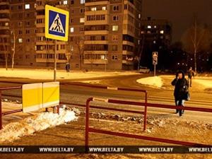 Экспериментальный пешеходный переход появился в Витебске