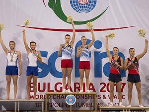Белорусы завоевали золото на ЧМ по прыжкам на батуте в Санкт-Петербурге